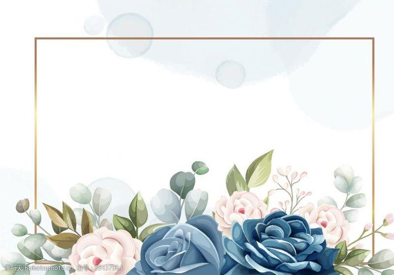 矢量设计 玫瑰花边框图片