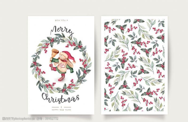 包装设计 圣诞卡片插画图片